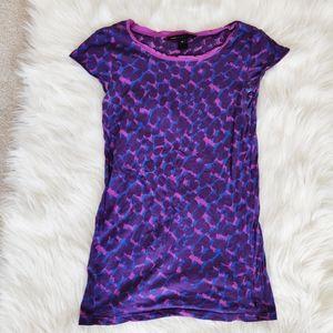 Marc Jacobs purple cotton leopard print style top
